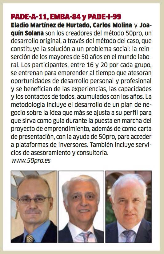 50Pro en la revista de Antiguos Alumnos del IESE.