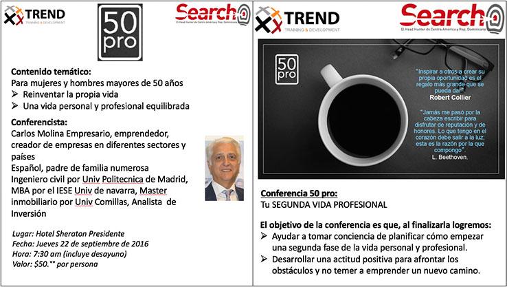 Conferencias impartidas en El Salvador. 50Pro